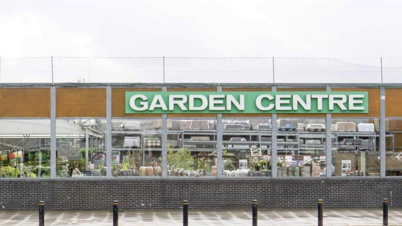 temporary garden centre warehouses