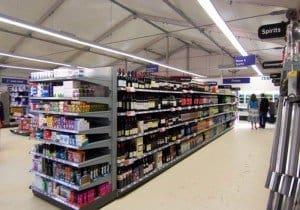 temporary supermarket warehousing