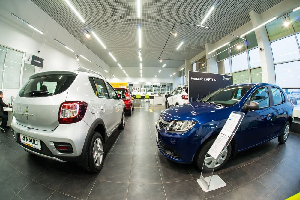 Temporary buildings for car showrooms