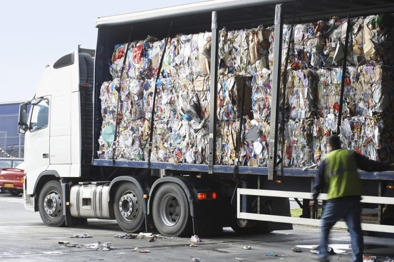 Temporary buildings for recycling companies