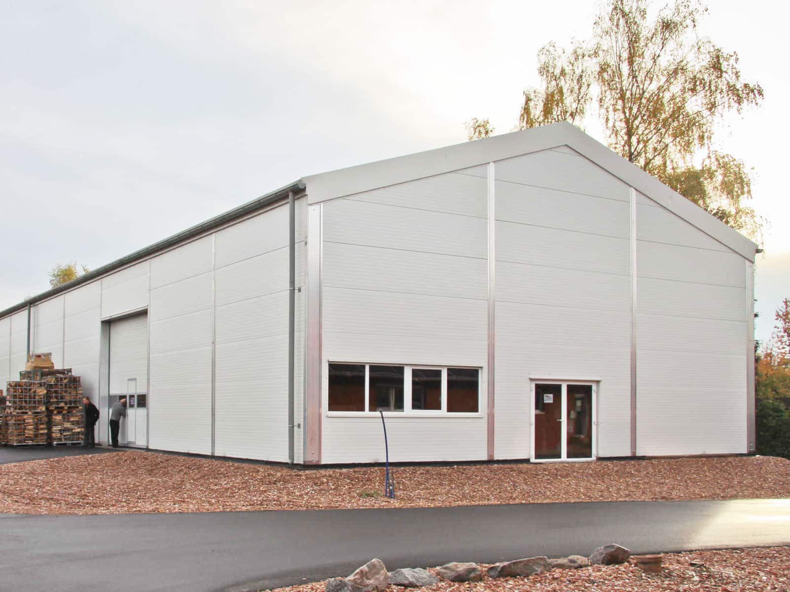 Temporary Construction Structures : Steel roofed temporary buildings temp re build ltd
