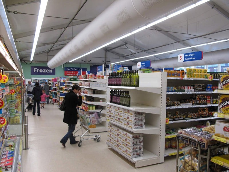 Temporary Retail Supermarket Building